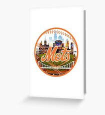 New York Mets Stadium Logo Greeting Card