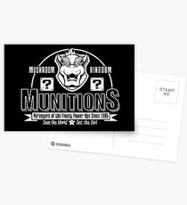 Mushroom Kingdom Munitions Postcards