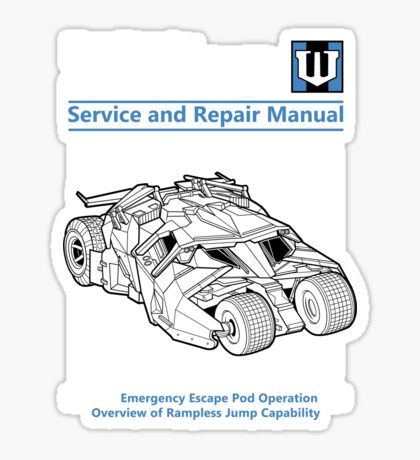 Bridging Vehicle Service and Repair Manual Sticker