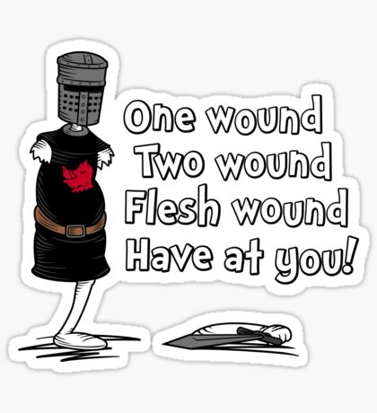 One Wound, Two Wound Sticker