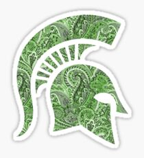 Michigan State University - Spartan Paisley Sticker