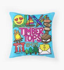 Timber Tops  Throw Pillow