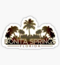 Bonita Springs Florida palm tree design Sticker