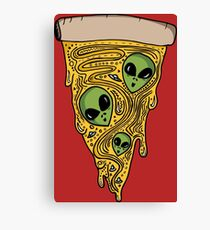 Alien Pizza Canvas Print