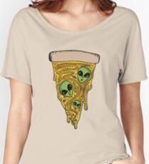 Alien Pizza Women's Relaxed Fit T-Shirt