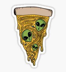 Alien Pizza Sticker