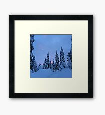 Snowshoeing the mountains  Framed Print