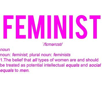 Feminist/Feminism Design on T-shirts and Stickers by jezzhands