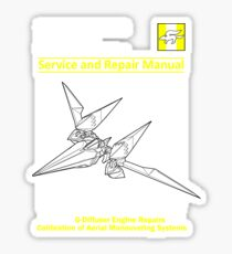 Arwing Service and Repair Manual Sticker