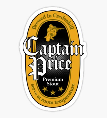 Captain Price Premium Stout Sticker