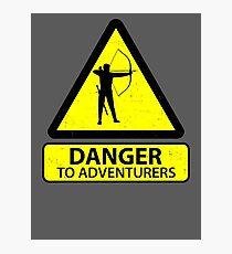 Danger to Adventurers Photographic Print