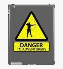 Danger to Adventurers iPad Case/Skin