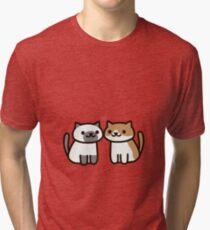 Camiseta de tejido mixto Neko Atsume- Kitty Love