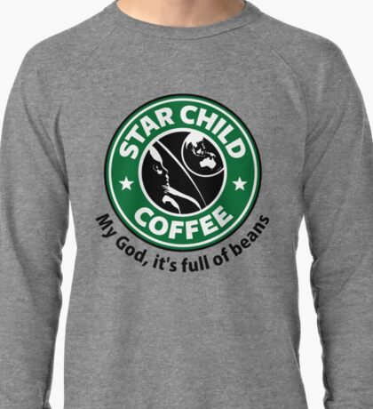 Star Child Coffee Lightweight Sweatshirt