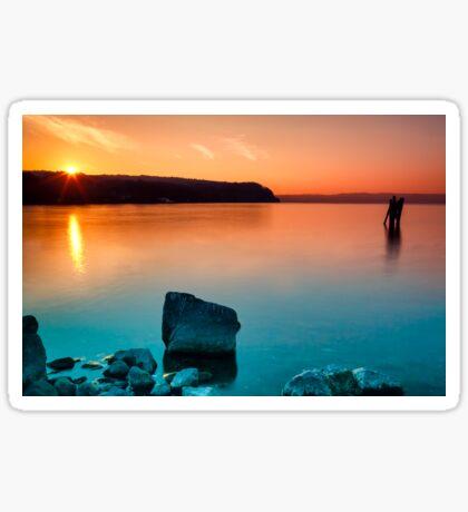 Orange Cyan Sunset Sticker
