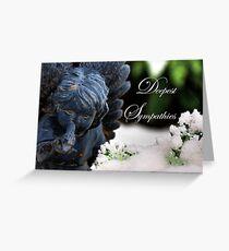 Deepest Sympathies Angel Greeting Card
