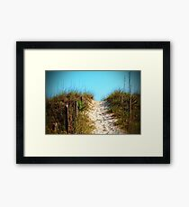 Steep Beach Path Framed Print