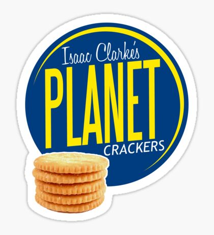 Isaac Clarke's Planet Crackers Sticker