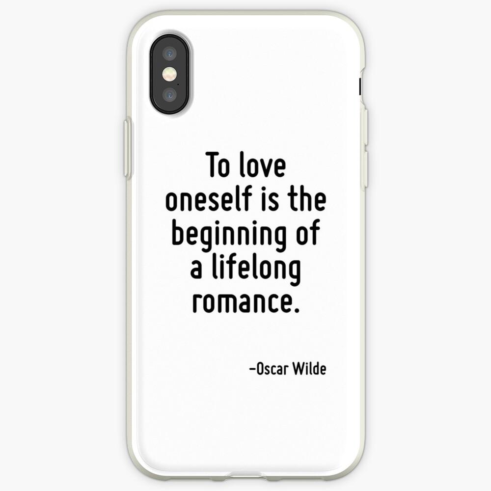 Sich selbst zu lieben ist der Beginn einer lebenslangen Romanze. iPhone-Hülle & Cover