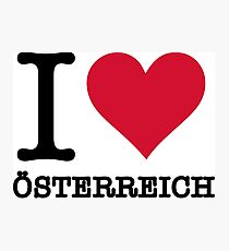 I love Austria Photographic Print