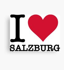 I Love Salzburg Canvas Print
