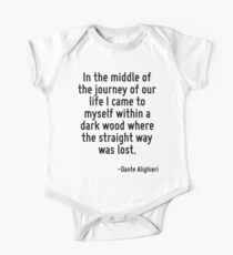 In the middle of the journey of our life I came to myself within a dark wood where the straight way was lost. One Piece - Short Sleeve