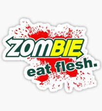 Zombie - Eat Flesh Sticker