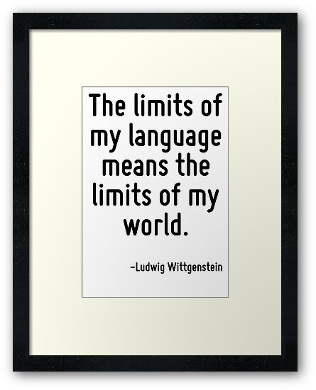 Risultati immagini per the limits of language