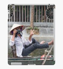 Vietnamese Photographer Boat Lady  iPad Case/Skin