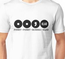 Dot dot comma Clear Unisex T-Shirt