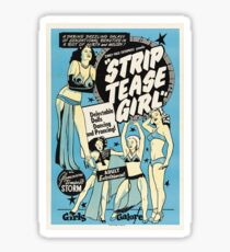 Vintage poster - Strip tease Girl Sticker