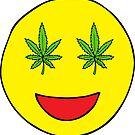 Smiley-Weed-Augen von Corey Paige Designs
