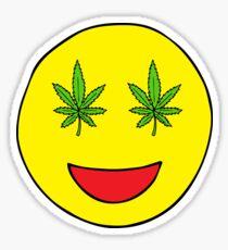 Smiley-Weed-Augen Sticker