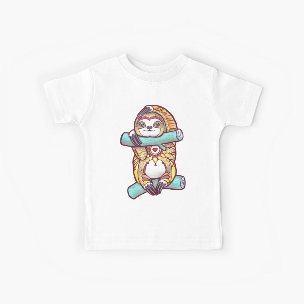 Mandala Sloth Kids T-Shirt