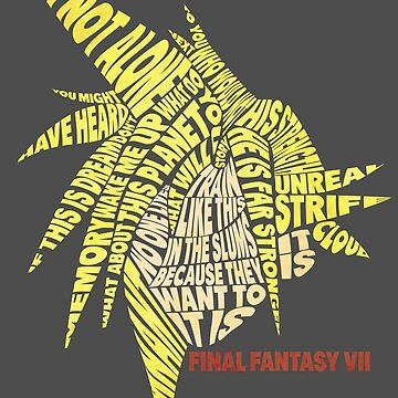 Final Fantasy VII (7) - Cloud Strife - Typography by RellikJoin