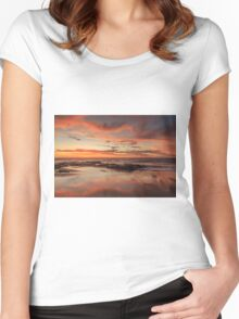 Sandy Reflections Women's Fitted Scoop T-Shirt
