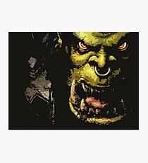 Warcraft Orc Photographic Print