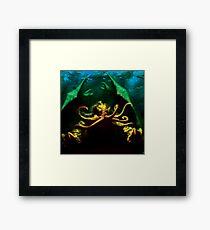 Pixelated Cthulhu Mythos Framed Print