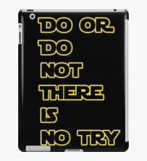 Yoda Quote Star Wars  iPad Case/Skin