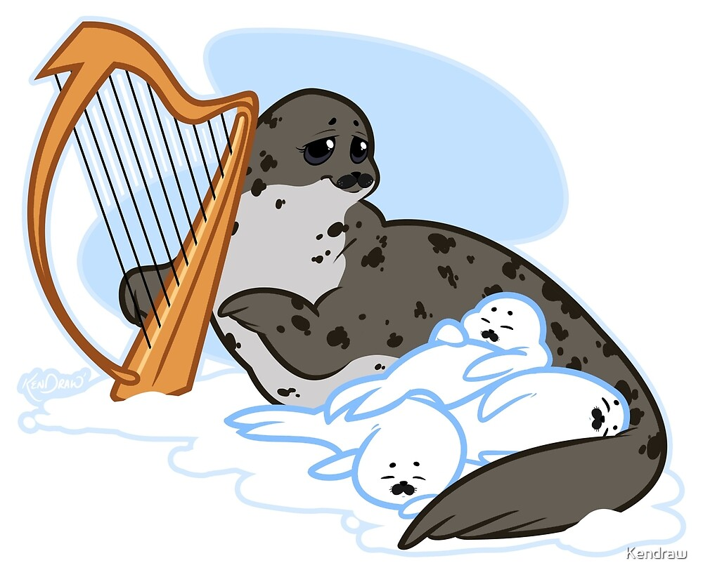 Mama Harp Seal  by Kendraw