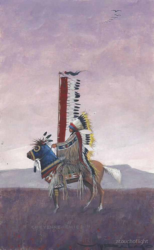 """Cheyenne Chief"" by M. Rabago by atouchoflight"