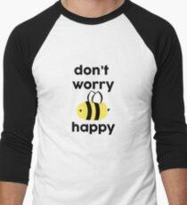 Bee Happy Baseball ¾ Sleeve T-Shirt
