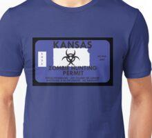 Zombie Hunting Permit - KANSAS Unisex T-Shirt