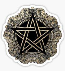 Baroque Pentacle Sticker