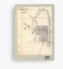 Civil War Maps 0083 Augusta Ga 1864 Canvas Print