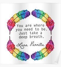 Lana Parrilla Quote (Black text) Poster