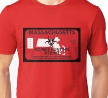 Zombie Hunting Permit - MASSACHUSETTS Unisex T-Shirt