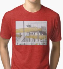 Snow and Ice on Water Park Slide Tri-blend T-Shirt