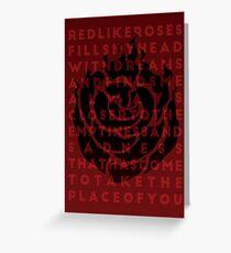 Ruby Rose Print Greeting Card