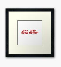 Coca Coleer Framed Print